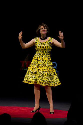 http://recyclerunway.com/wp-content/uploads/Caution-Tape-Dress1.jpg
