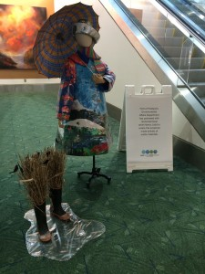 April on display at the PDX Airport